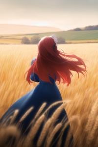 The Girl with the Crimson Hair