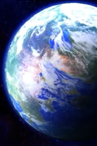 A new blue marble hurtling through space
