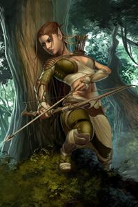 An Elf in Skyrim